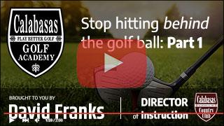 Stop hitting behind the golf ball Part 1 Thumbnail